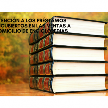 Anulada una venta a domicilio fraudulenta de libros con un crédito encubierto, gracias a la acción judicial de Hispajuris